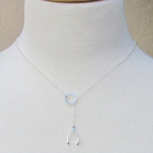 Jewelry - ✨✨.925 Sterling Silver Whishbone Lariat Necklace✨✨
